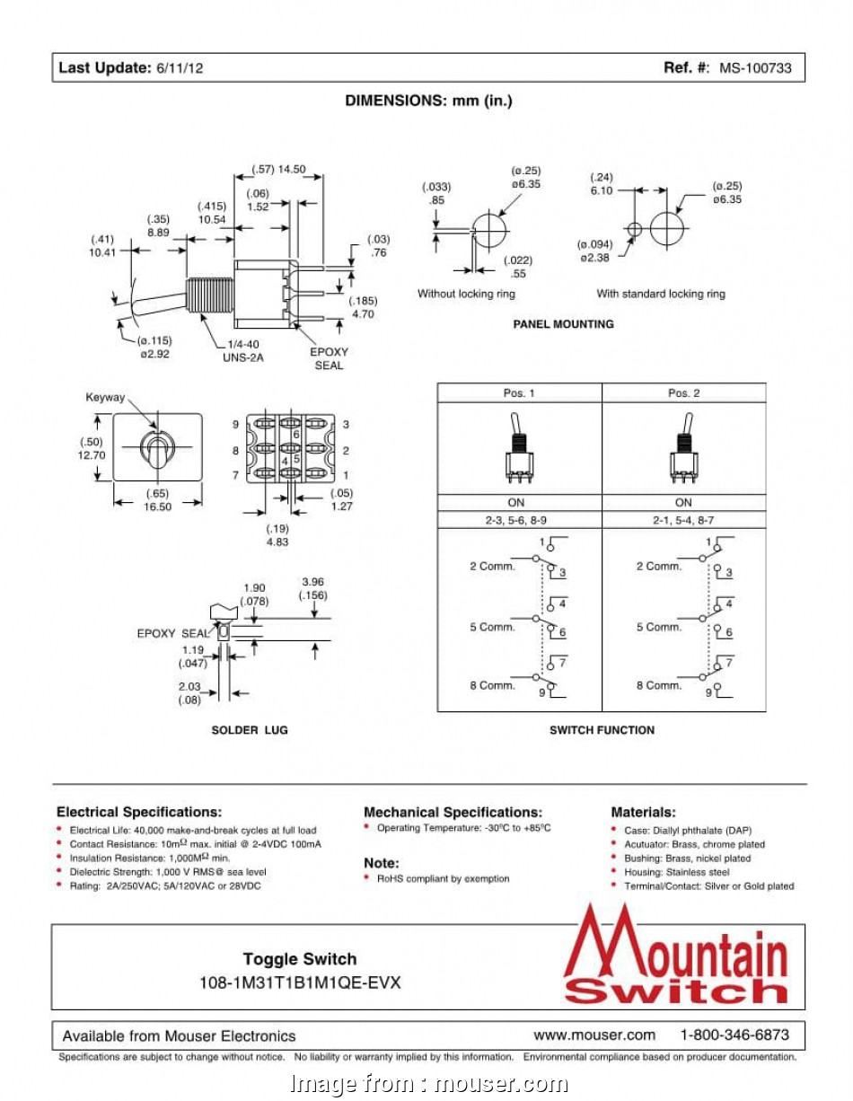 medium resolution of 3pdt toggle switch wiring diagram 3pdt on on toggle switches mouser 3pdt toggle switch