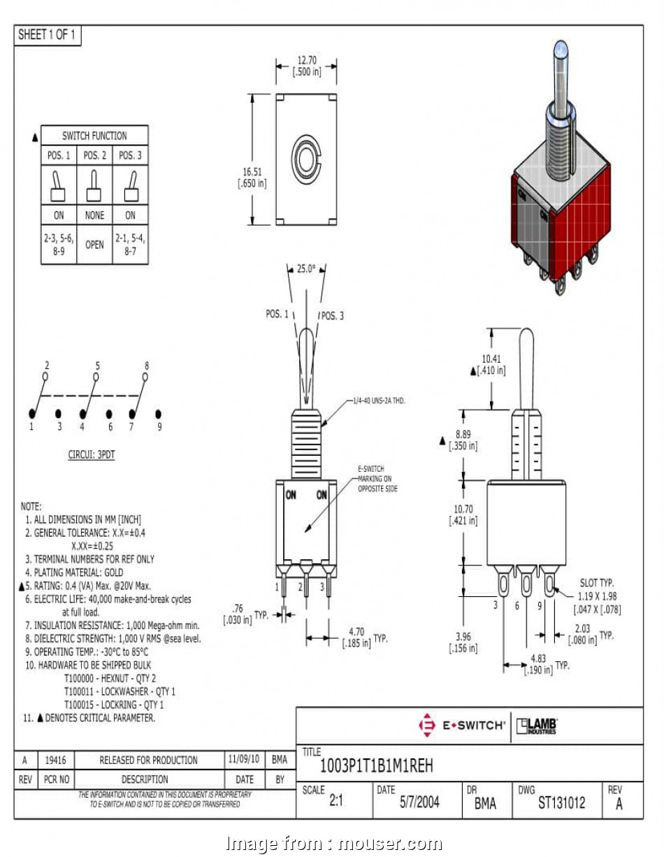 hight resolution of 3pdt toggle switch wiring diagram 3pdt on on toggle switches mouser 3pdt toggle switch