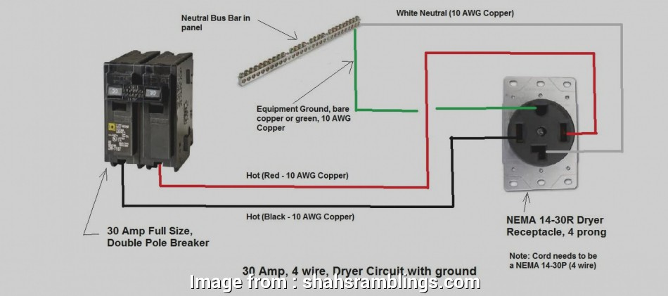 4 Prong Dryer Outlet Wiring Diagram Brilliant 4 Prong