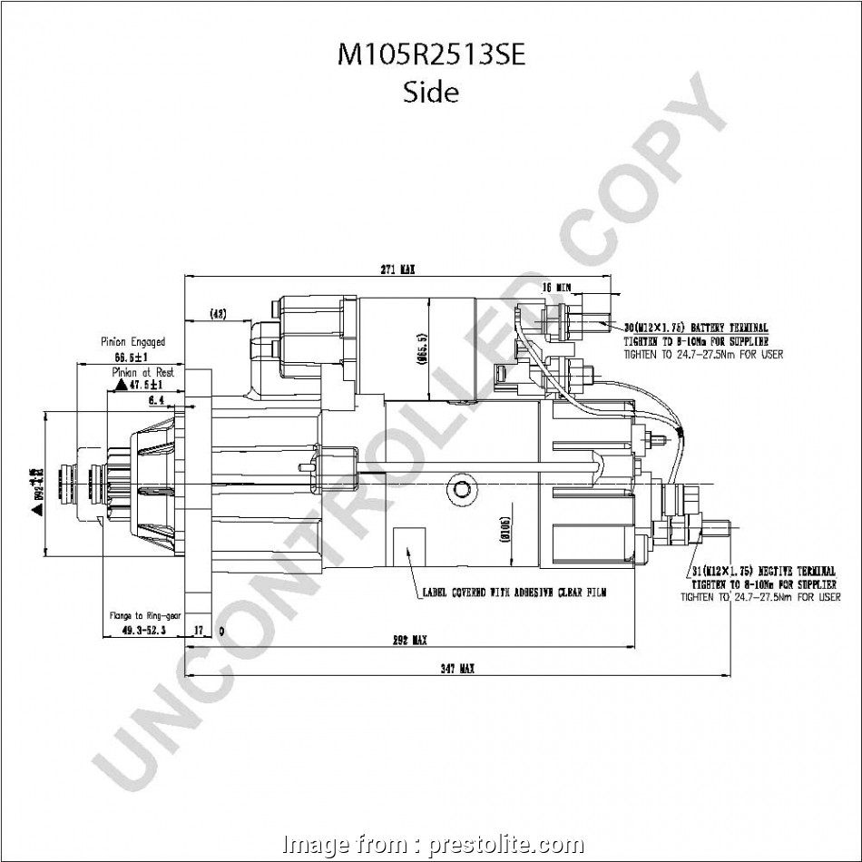 42Mt Starter Wiring Diagram New M105R2513SE Side, Drawing