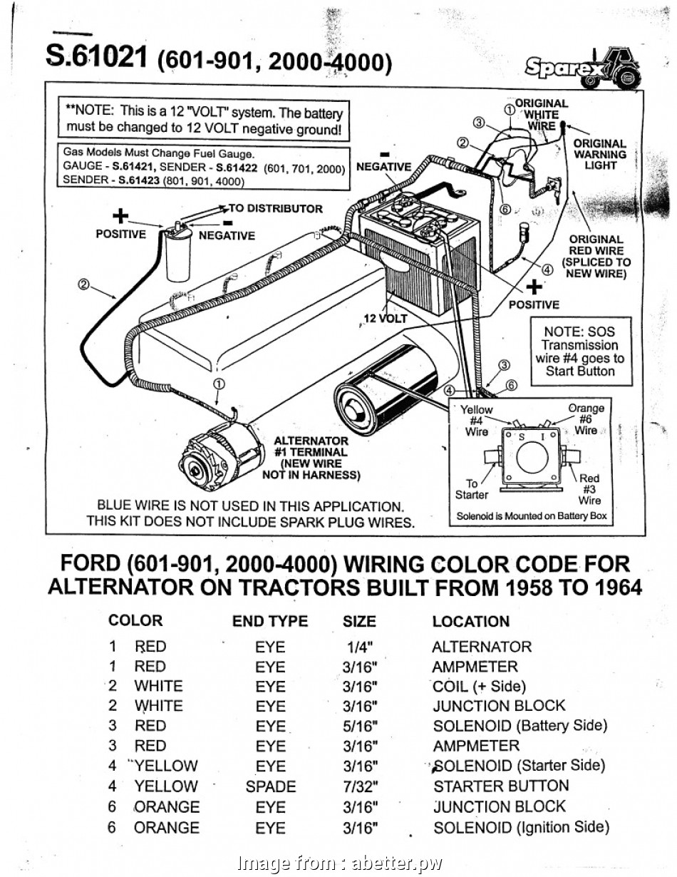 Ford 4000 Wiring Diagram