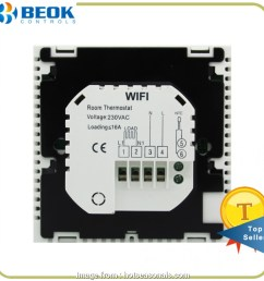 beok thermostat wiring diagram beok tds23wifi ep wifi smart programmable thermostat with large touch screen [ 950 x 950 Pixel ]