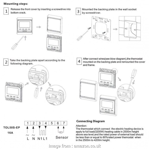 small resolution of beok thermostat wiring diagram beok tol50s ep programmable display digital room thermostat underfloor electric