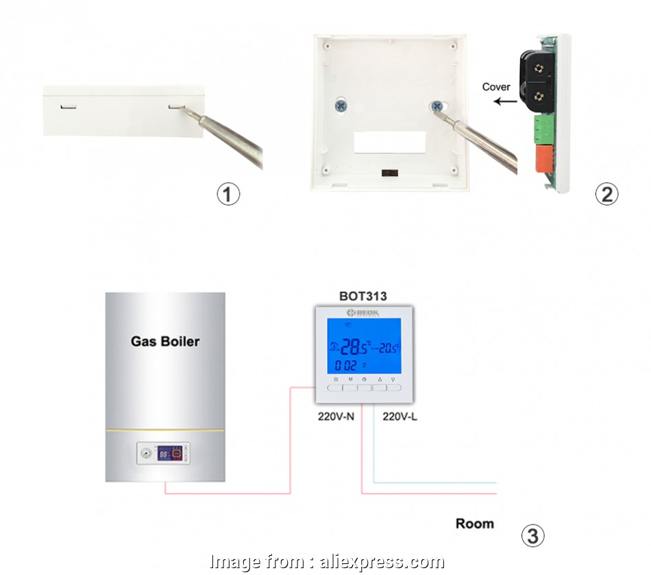 hight resolution of beok thermostat wiring diagram bot 313w programmable battery power room digital thermostat gas boiler heating
