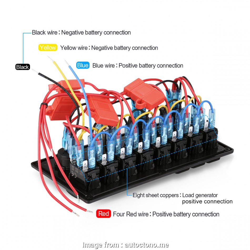 hight resolution of boat toggle switch wiring 12v switch panel breaker 8 gang marine boat rocker
