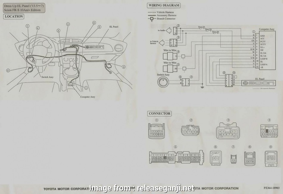 Brz Electrical Wiring Diagram Perfect Scion, Headlight