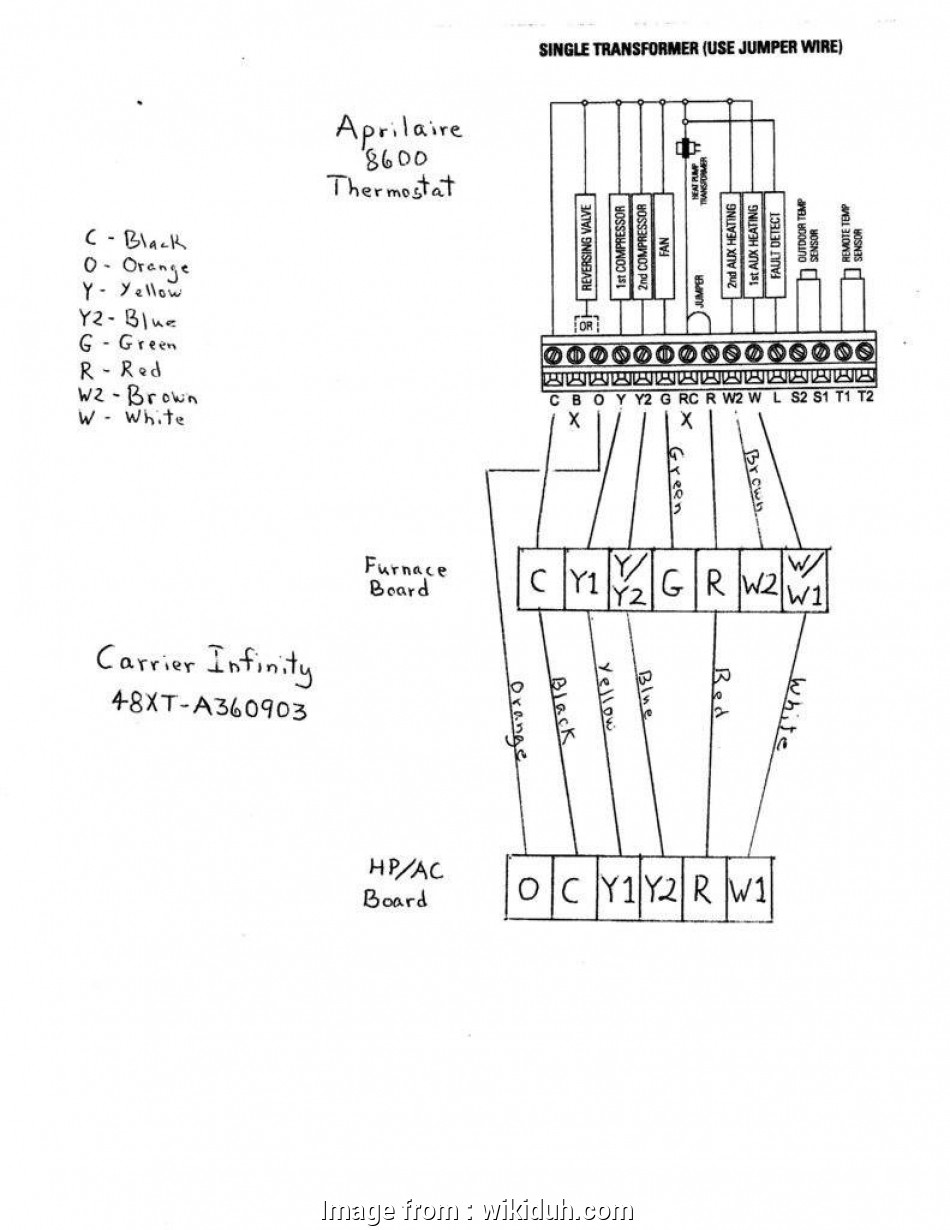Carrier Heat Pump Thermostat Wiring Diagram