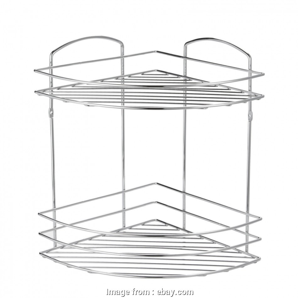 Chrome Wire Shower Shelf Best Details About Wall Mounted