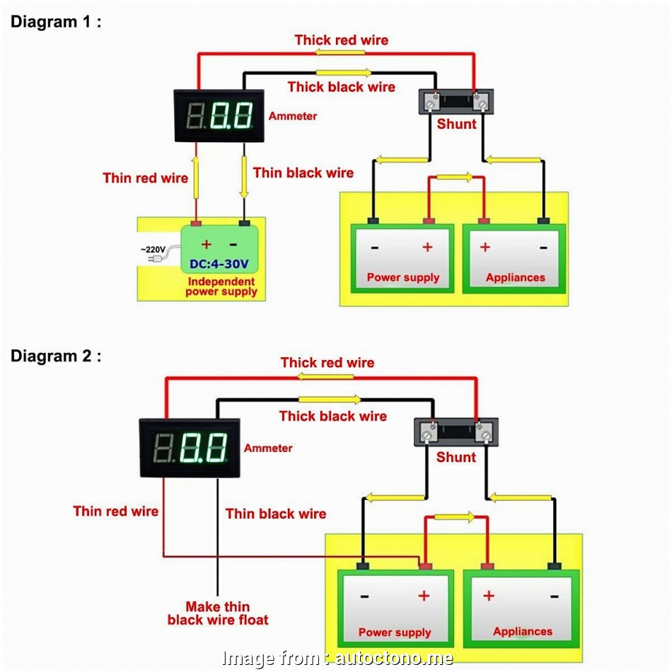 medium resolution of  voltmeter ammeter wiring schematic on ammeter circuit ammeter shunt wiring ammeter with one wire