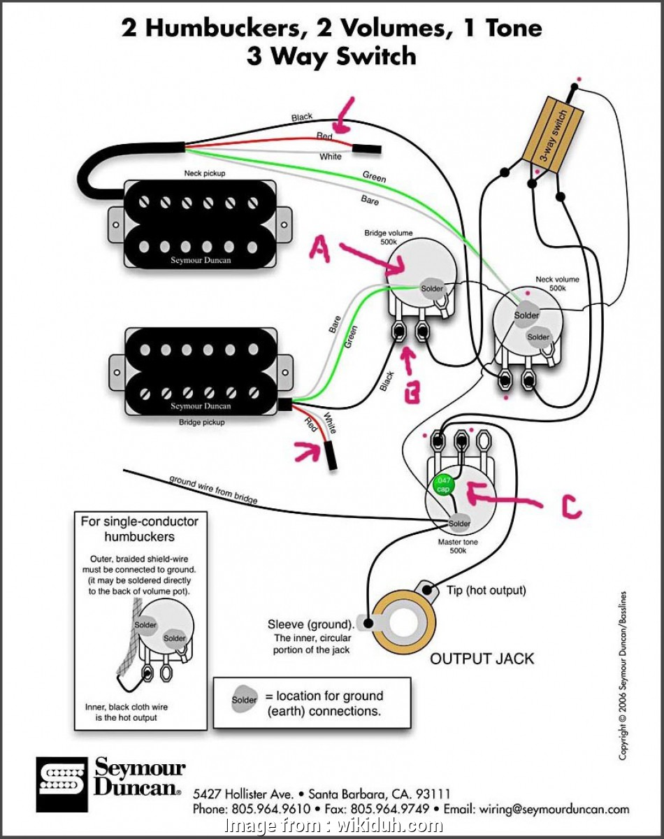 Dimarzio 3, Switch Wiring Diagram Humbuckers Creative