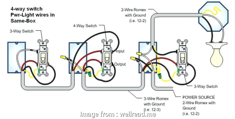 Wiring Diagram For 3 Way Switches. how to wire a 4 way ... on