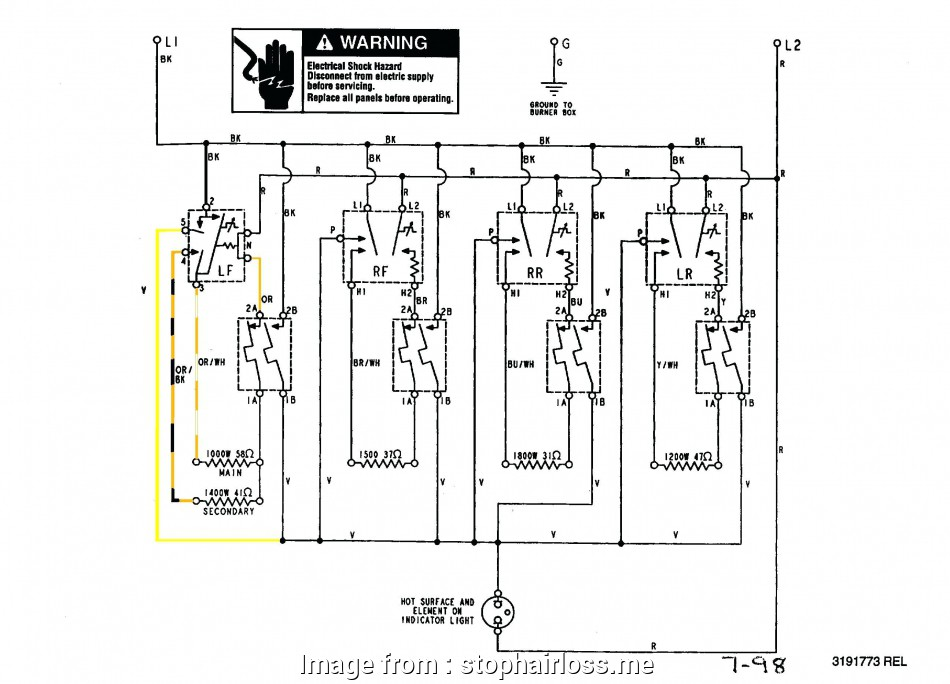 Electric Stove Wiring Creative Gallery Of Wiring Diagrams