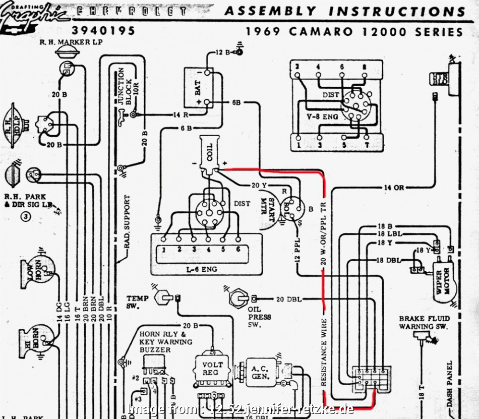 Electrical Wiring Diagram, Gto 52 Simple 1968 Camaro Dash