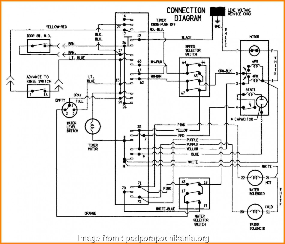 Electrical Wiring Diagram Of Washing Machine Practical
