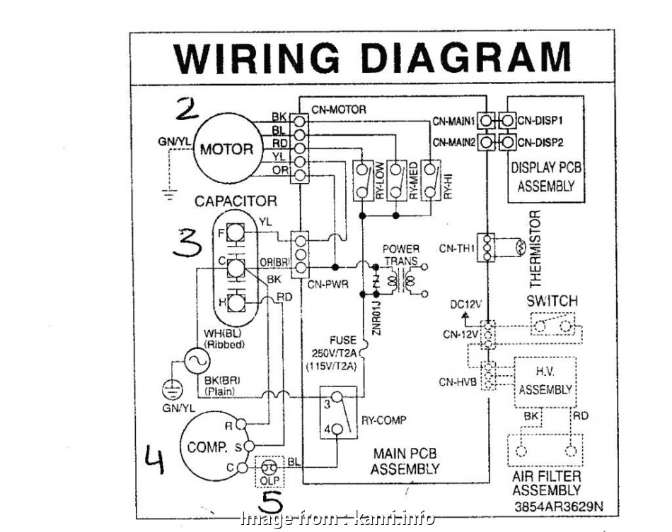Electrical Wiring Diagram Of Window Ac Practical Lg Window