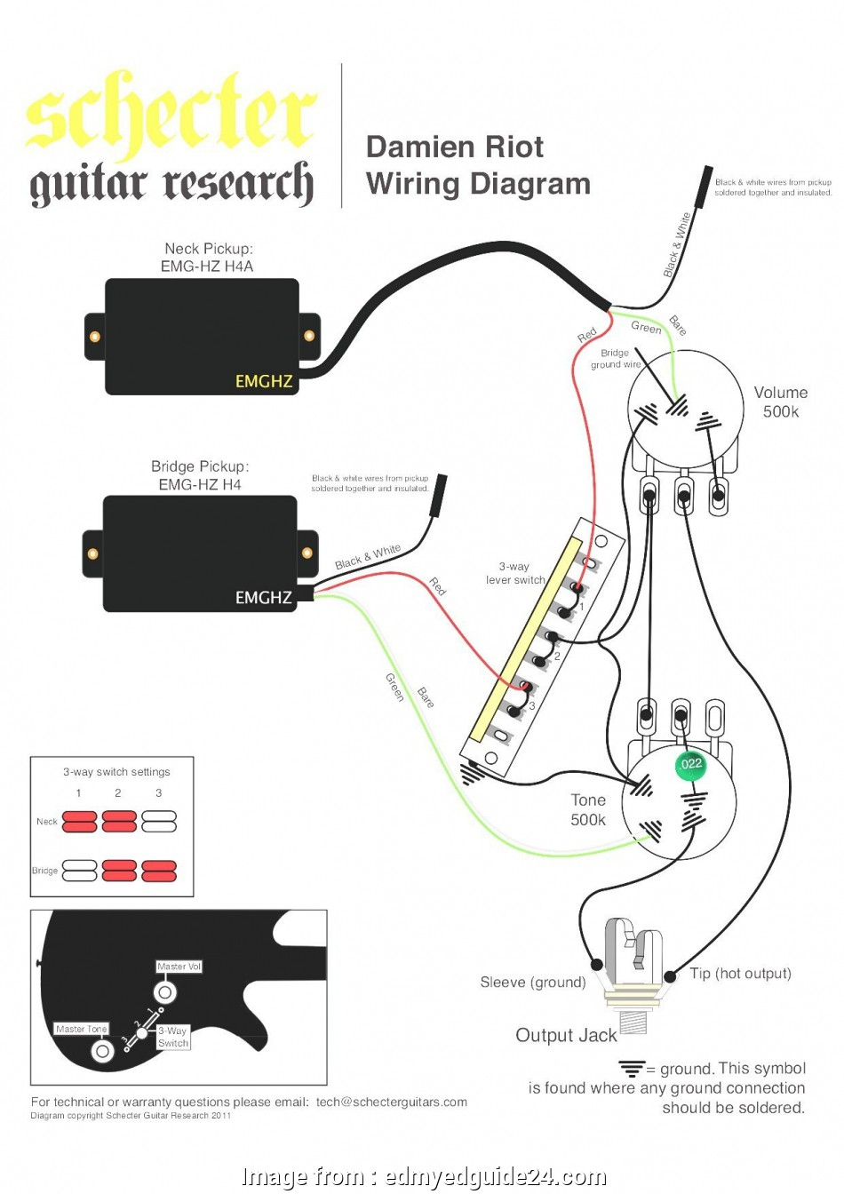 Emg 3, Switch Wiring Cleaver Active Guitar Wiring Diagram