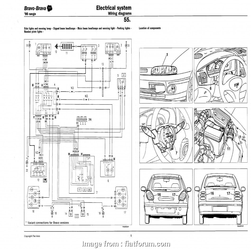 Fiat, Starter Wiring Diagram Nice Technical: Headlight