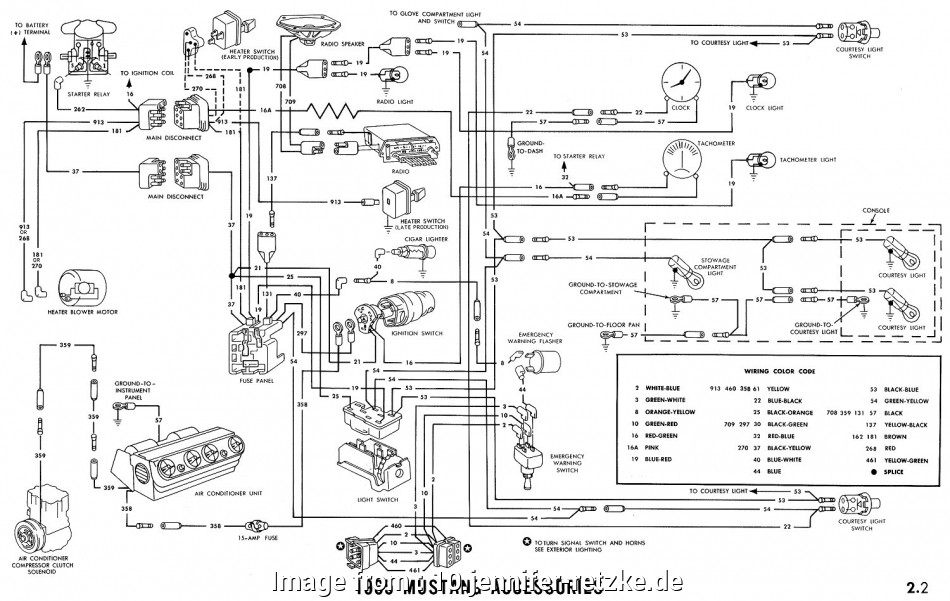 Ford, Starter Wiring Diagram Best 1969 Mustang Ignition