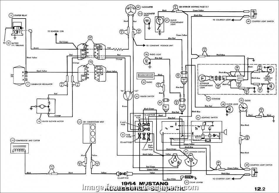 Ford Wiring Diagrams Automotive Professional 1966 Mustang