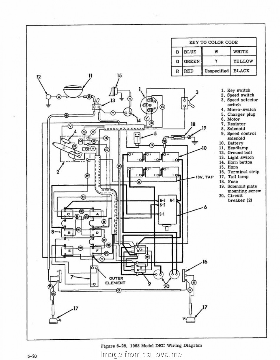 Golf Cart Starter Wiring Diagram Brilliant Ezgo Starter