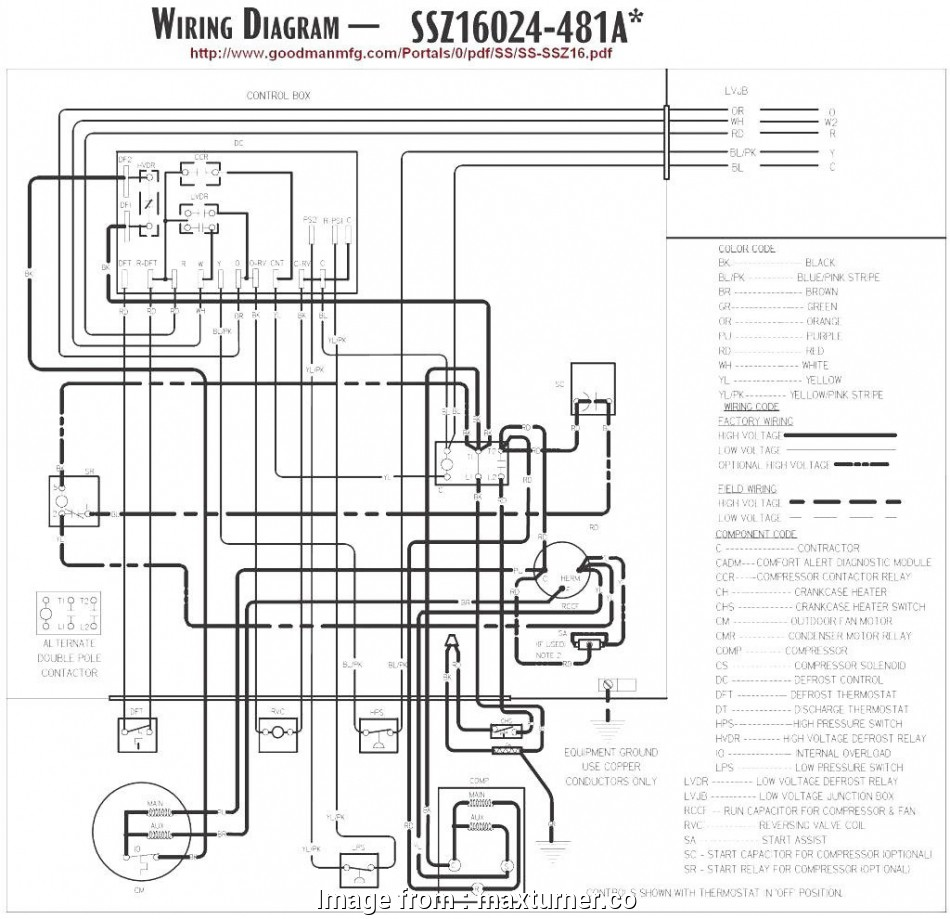 Goodman Ac Thermostat Wiring Diagram Creative Goodman Ac