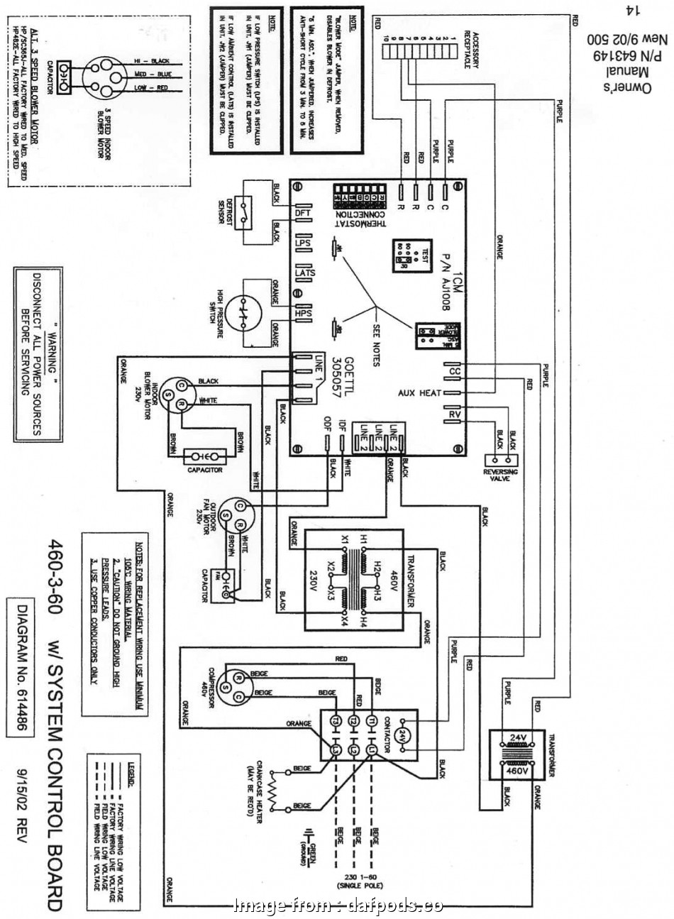 Goodman Package Unit Thermostat Wiring Diagram Creative