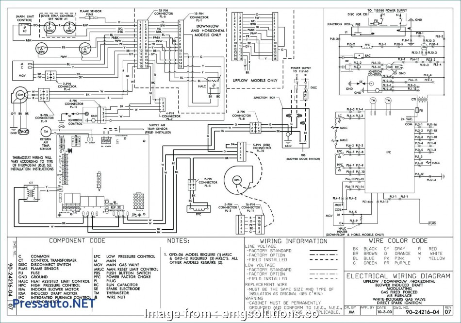 Goodman Package Unit Thermostat Wiring Diagram Fantastic