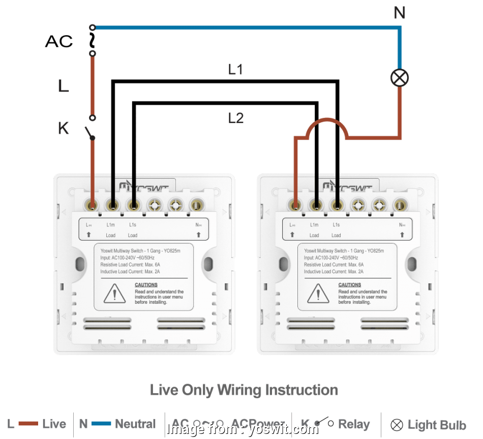 Home Automation Light Switch Without Neutral Wire Simple