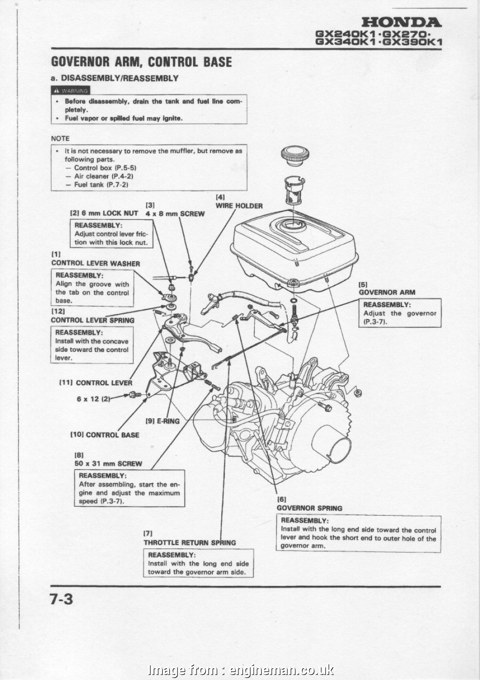 Honda Gx390 Starter Wiring Diagram Best GOVERNOR, AND