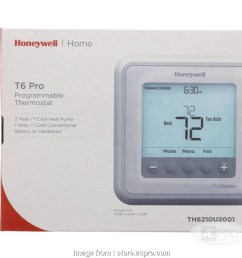 honeywell t6 thermostat wiring diagram t6 programmable thermostat 2 heat 1 cool [ 950 x 950 Pixel ]