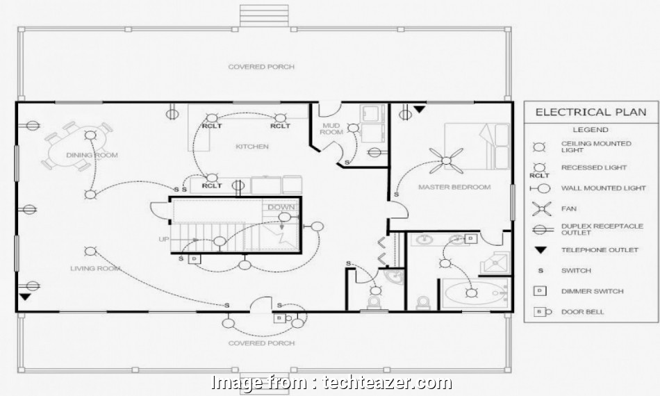 House Electrical Wiring Diagram Symbols Uk Brilliant House
