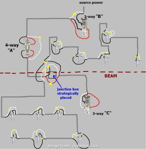 small resolution of how to wire recessed lights with 2 switches wiring diagram 4 switch diagrams power from