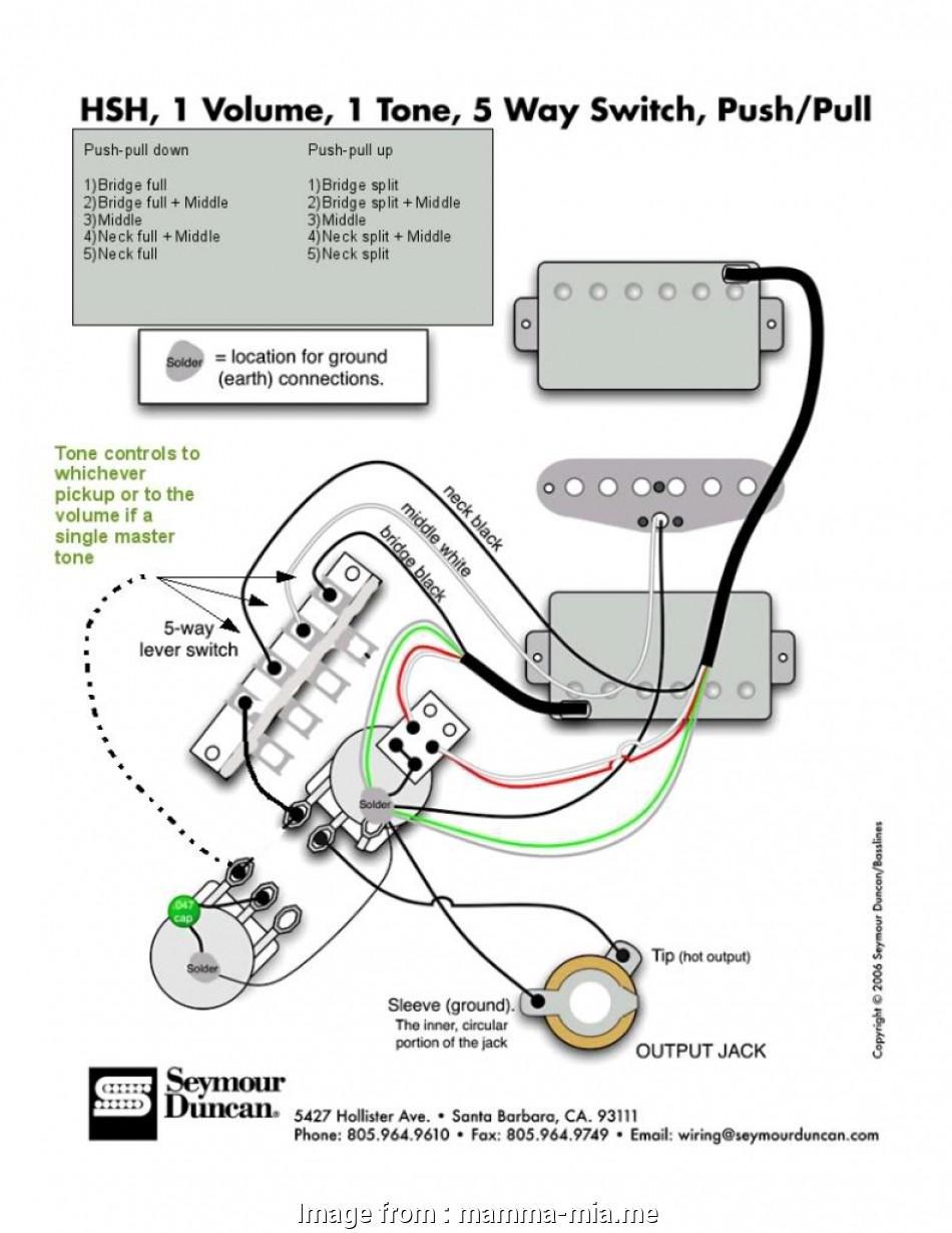 Stratocaster Wiring Diagram Push Pull / Strat Wiring