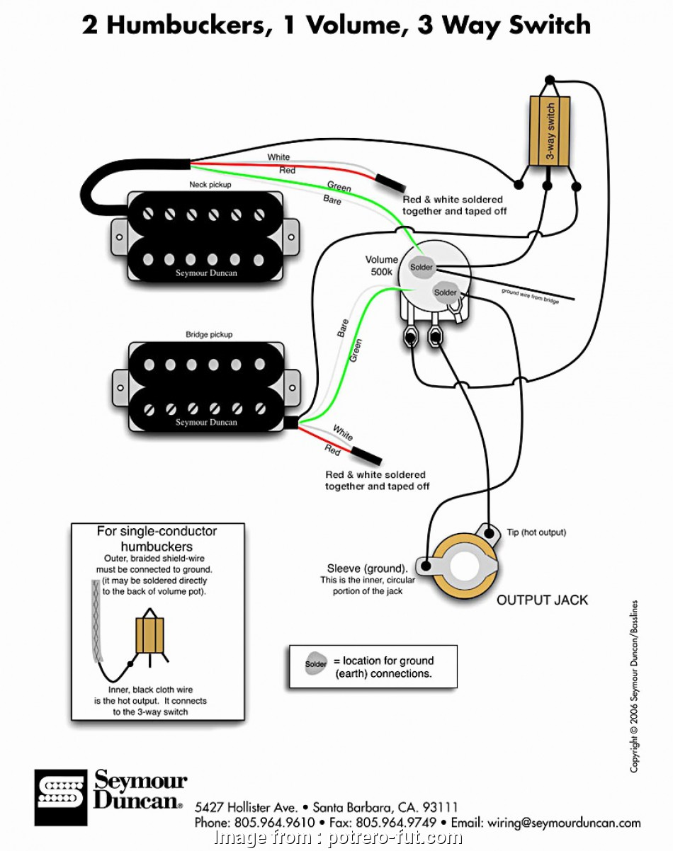 Humbucker 3, Switch Wiring Brilliant 2 Humbuckers 1 Volume
