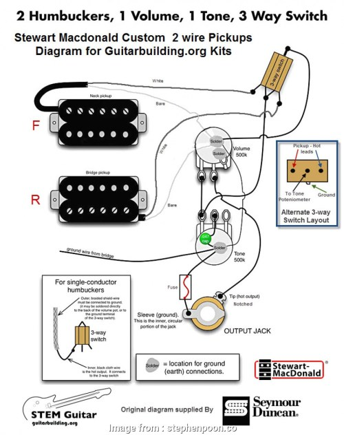 small resolution of humbucker 3 way switch wiring guitar wiring diagram 2 humbucker 1 volume tone radiantmoons me with
