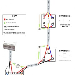 Light Switch Wiring Diagrams Uk 4 Way Flat To 7 Round Adapter Diagram Intermediate Brilliant Great 2 Switching