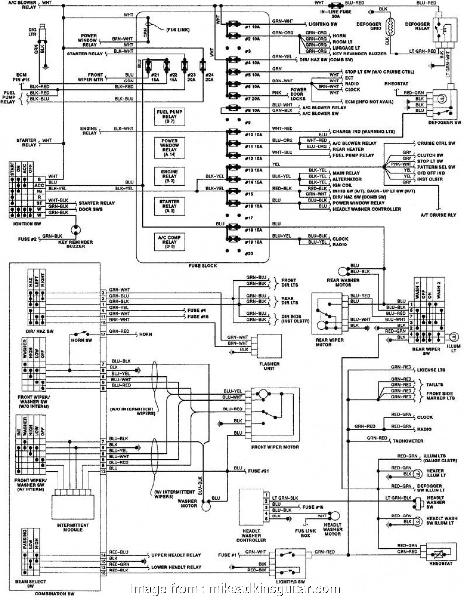 Isuzu, Electrical Wiring Diagram Practical Isuzu Truck