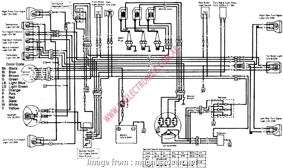 Kawasaki Mule, Electrical Wiring Diagram Popular Colorful