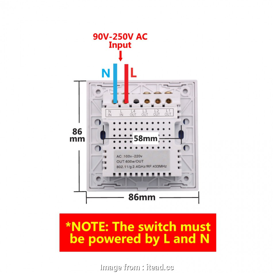 hight resolution of light switch neutral wire uk sonoff t1 1 3 gang wifi rf 86