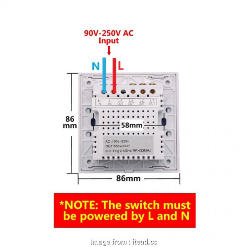 small resolution of light switch neutral wire uk sonoff t1 1 3 gang wifi rf 86