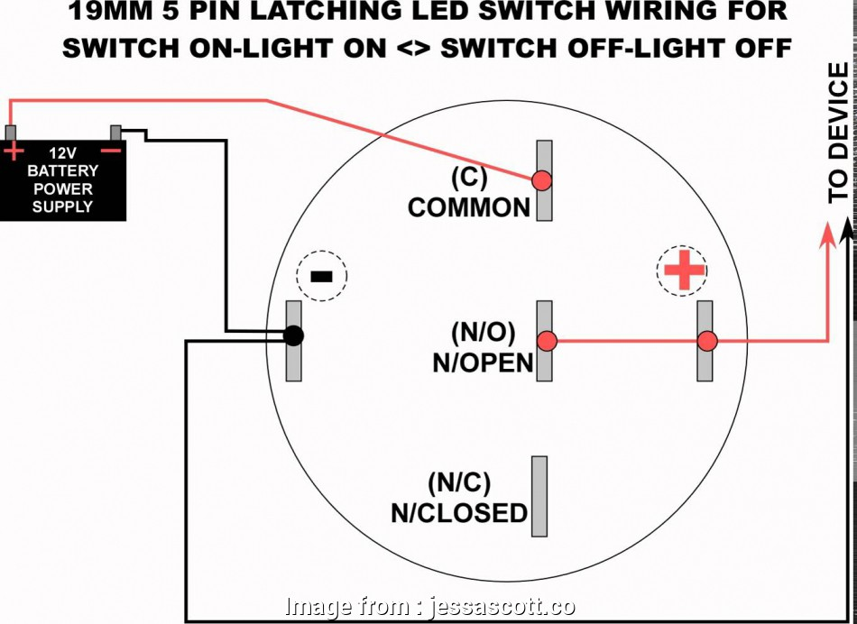 Light Switch Wiring Push In Practical 19Mm, Latching
