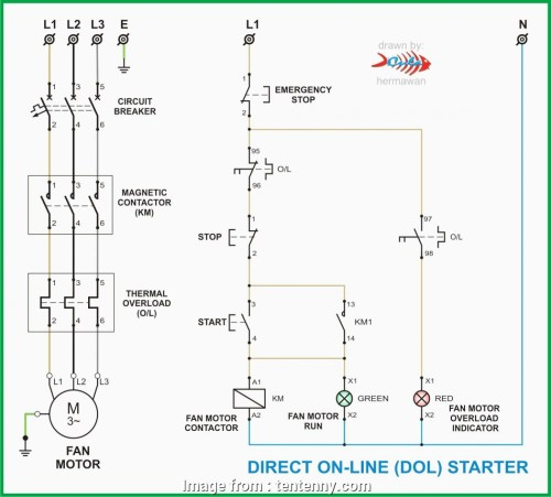 small resolution of l t starter wiring diagram 3 phase contactor wiring diagram start stop tc motor starter rh