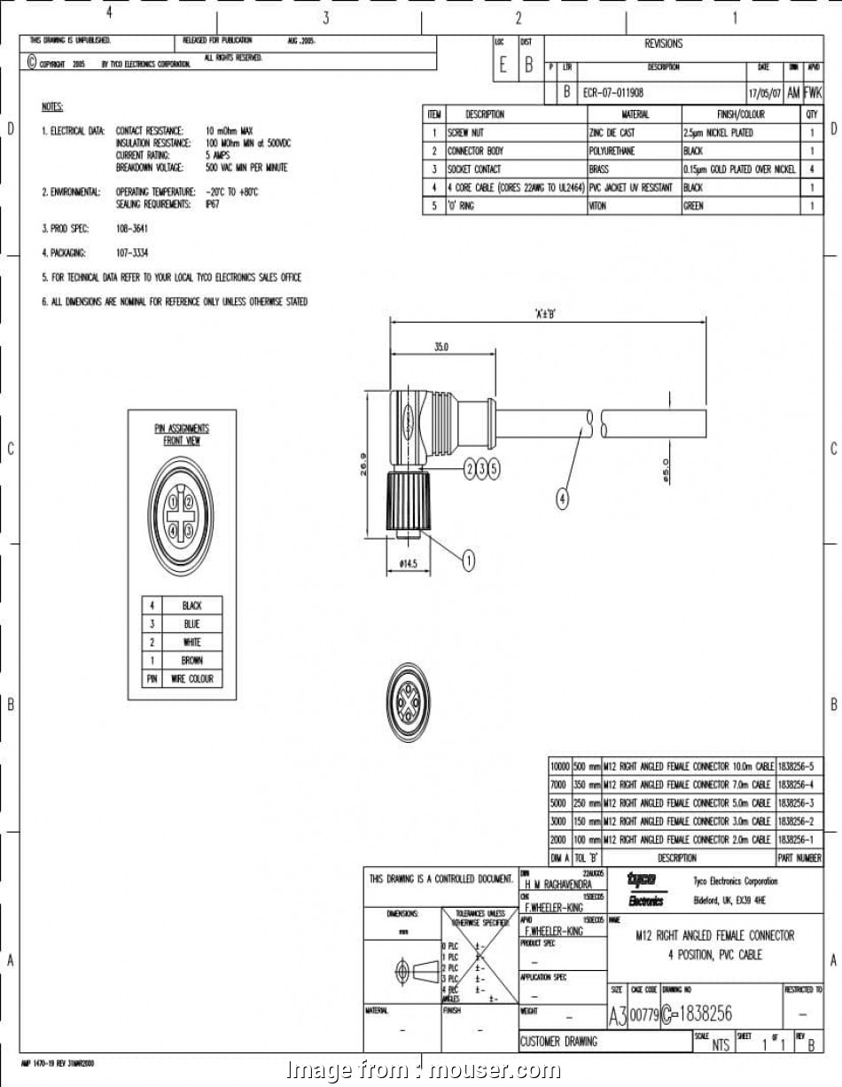 M12 Ethernet Wiring Diagram Professional M12 Receptacle