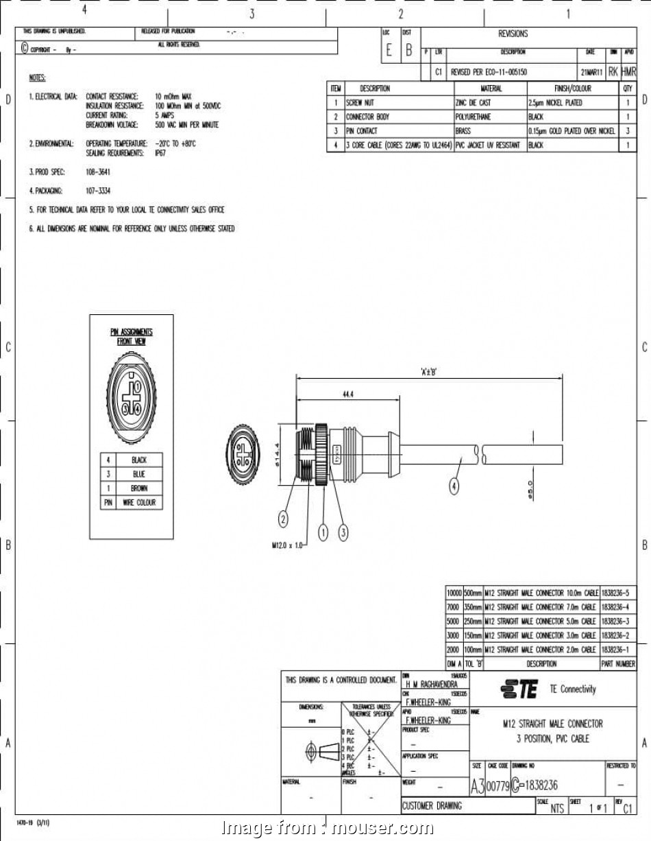 M12 Ethernet Wiring Diagram Best TE Connectivity, Plug