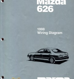 mazda 626 electrical wiring diagram real original book pages printed by mazda complete electrical wiring [ 950 x 1254 Pixel ]