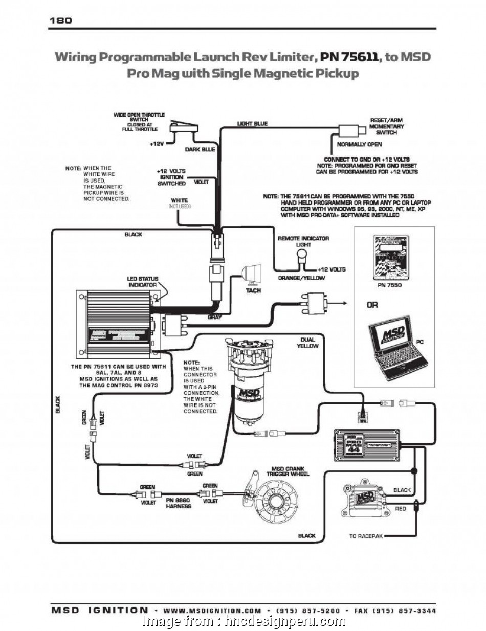 Msd Digital, Pn 6425 Wiring Diagram Professional Complex