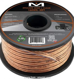 paradigm speaker wire gauge amazon com mediabridge 16awg 2 conductor speaker wire  [ 950 x 950 Pixel ]