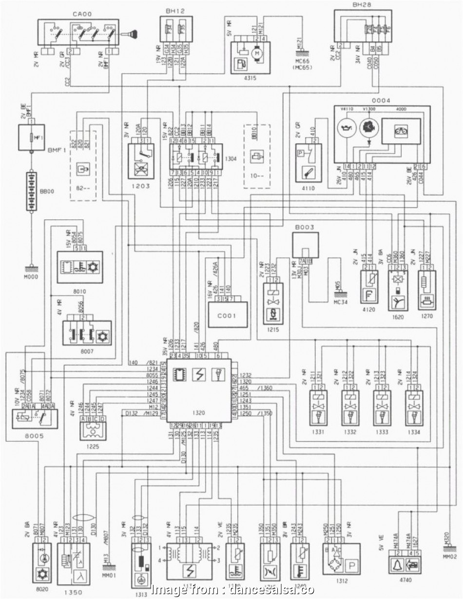 Peugeot, Electrical Wiring Diagram New Famous Peugeot