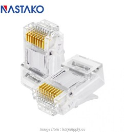 rj45 jack wiring diagram nastako 50 100x cat5e cat6 connector rj45 connector ez rj45 cat6 rh [ 950 x 950 Pixel ]