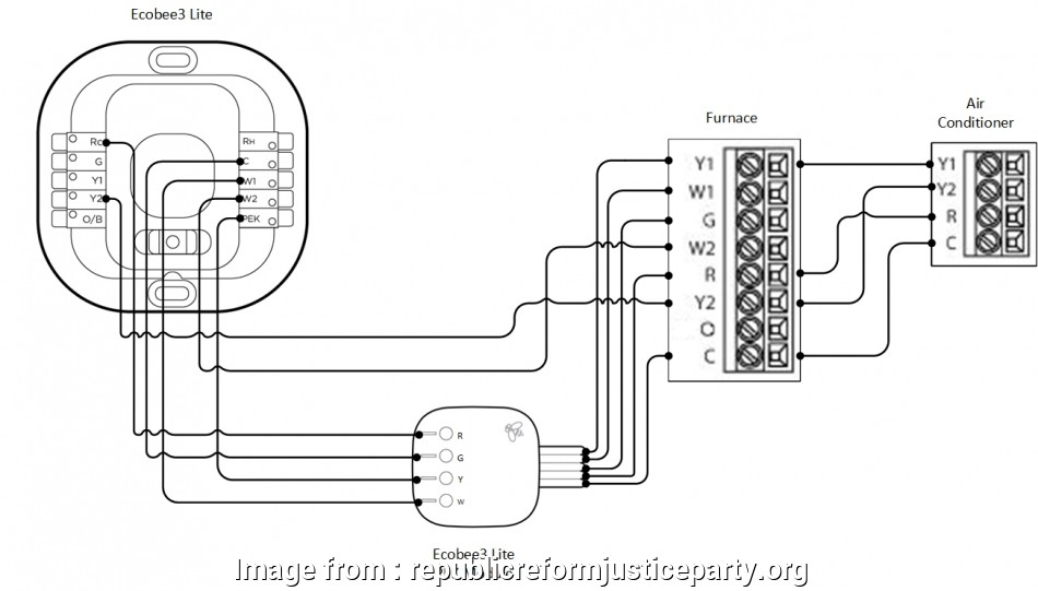 Thermostat Wiring Diagram With C Wire Best Ecobee Wiring